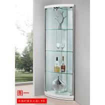 F03-三角玻璃角櫃/酒櫃